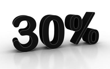 иллюстрация процентов 3D