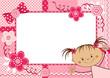 Pink children frame.