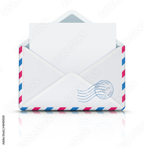 Airmail post envelope