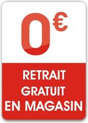bouton retrait gratuit en magasin