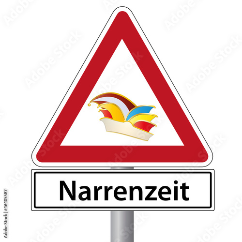 schild narrenzeit karneval
