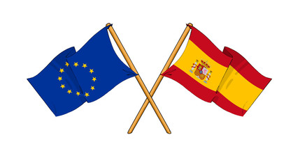 European Union and Spain alliance and friendship