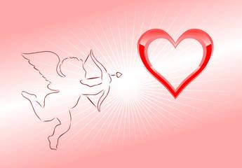 kupidyn i serce