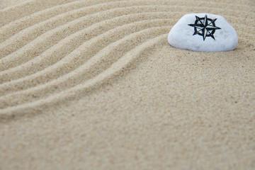 Stein auf Sand