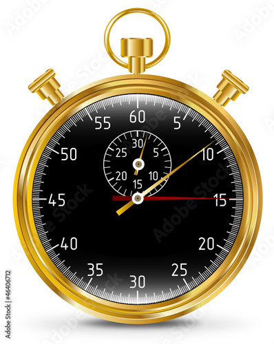 Golden vector stopwatch