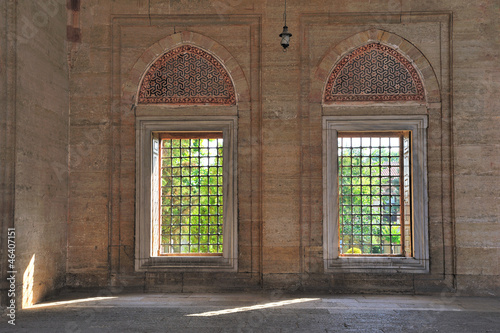 Ottoman windows. Selimiye Mosque. Edirne Turkey