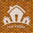 Haus / Immobilien Logo auf einer Hauswand