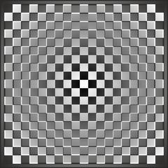 Fototapeta 3D optyczna iluzja kwadraty