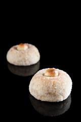 Hazelnut panellets. Catalan cuisine