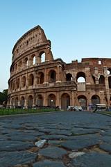 Rome, the Colosseum at sunset