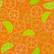fresh citrus outline seamless pattern