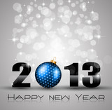 2013 New Year Celebration Background with Glitters