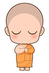 Buddhist Monk cartoon