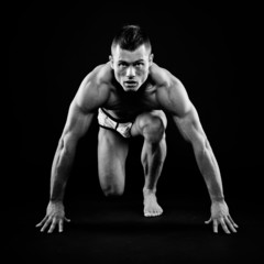 Athletic man posing
