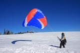 speed rider on snow