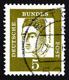 Postage stamp Germany 1961 Albertus Magnus, Dominican Friar and