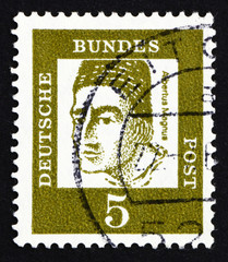 Postage stamp Germany 1961 Albertus Magnus, Dominican Friar and