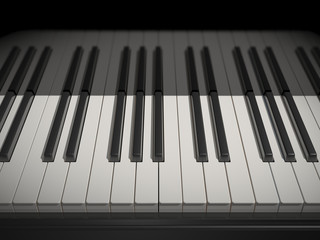white and black keys of the piano