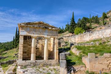 Athenian treasury, Delphi, Greece