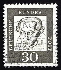 Postage stamp Germany 1961 Immanuel Kant, philosopher