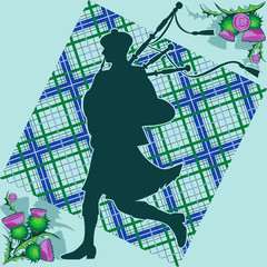 bagpiper and thistle