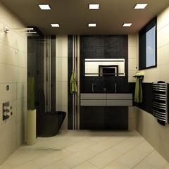 bathroom black design