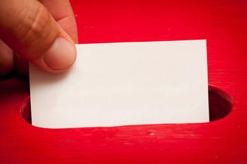 Blank vote card