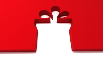 abstract red gift