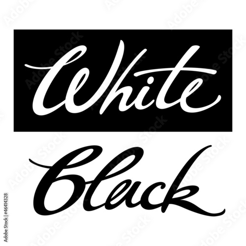 White Black colors