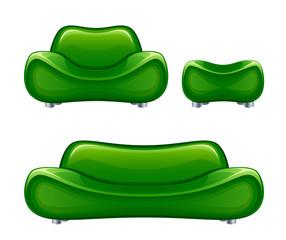 Green divan