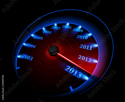 Speedometer 2013. Vector illustration