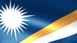 Marshall Islands Flag Waving