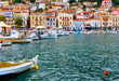 Leinwanddruck Bild - Traditional fishing village of Gytheio in Greece