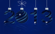 elegant blue New Year 2013  background, vector