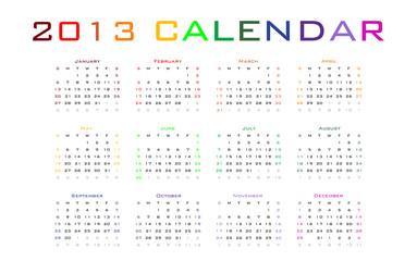 2013 vector blank calendar