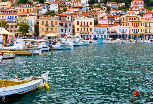 Leinwanddruck Bild Traditional fishing village of Gytheio in Greece