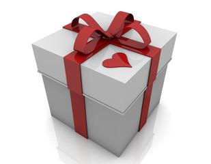 Caja de regalo y corazon
