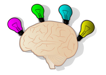 Brain color art