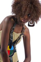 Black woman slouching
