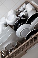 Vaisselle, lave-vaisselle, électroménager, assiette, bol