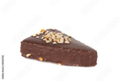 Waffle chocolate cake isolated