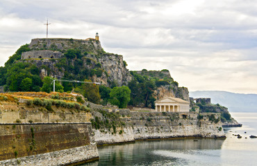 Old fortress at Corfu island in Greece