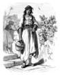 Girl : traditional mediterranean Peasant