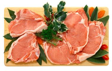 Braciole di vitello - veal chops for Christmas dinner