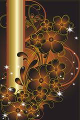 floral de noel cuivre