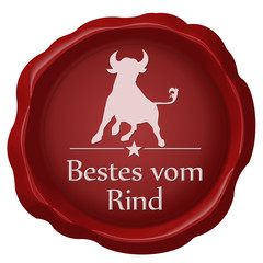 bestes vom rind button siegel
