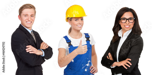 handwerker und geschäftsleute