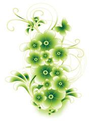 vert pastel et arabesques