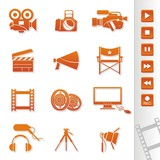 movie maker icon set