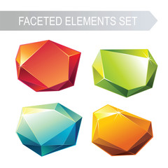 faceted glass elements